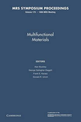 Multifunctional Materials: Volume 175 - MRS Proceedings (Paperback)