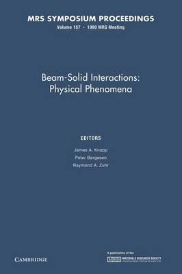 Beam-Solid Interactions: Volume 157: Physical Phenomena - MRS Proceedings (Paperback)