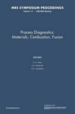 Process Diagnostics: Volume 117: Materials, Combustion, Fusion - MRS Proceedings (Paperback)