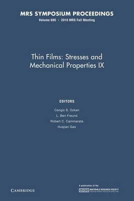 Thin Films: Stresses and Mechanical Properties IX: Volume 695 - MRS Proceedings (Paperback)