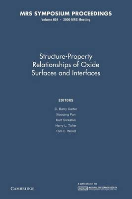 Structure-Property Relationships of Oxide Surfaces and Interfaces: Volume 654 - MRS Proceedings (Paperback)
