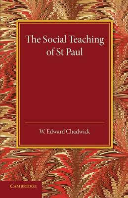 The Social Teaching of St Paul (Paperback)