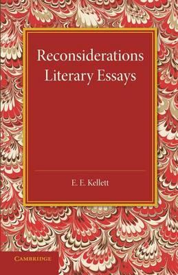 Reconsiderations: Literary Essays (Paperback)