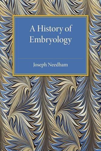 A History of Embryology (Paperback)