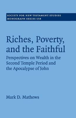 Riches, Poverty, and the Faithful: Perspectives on Wealth in the Second Temple Period and the Apocalypse of John - Society for New Testament Studies Monograph Series 154 (Paperback)