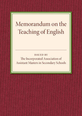 Memorandum on the Teaching of English (Paperback)