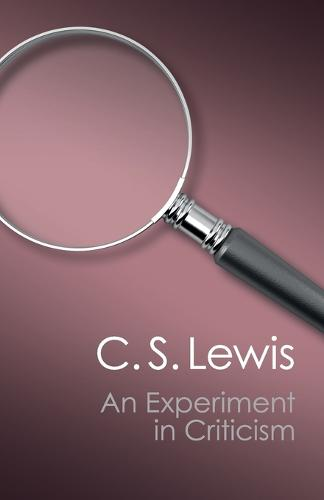 An Experiment in Criticism - Canto Classics (Paperback)