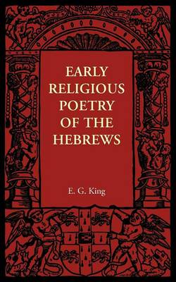 Early Religious Poetry of the Hebrews (Paperback)