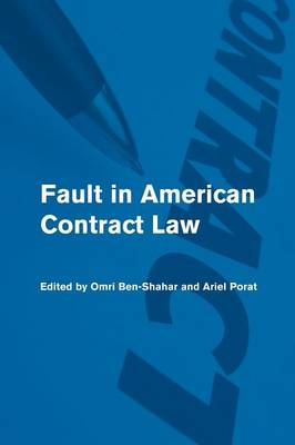 Fault in American Contract Law (Paperback)