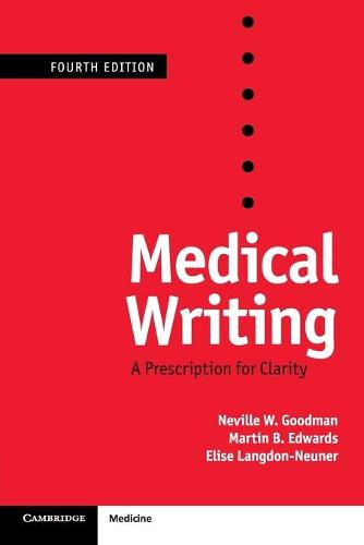 Medical Writing: A Prescription for Clarity (Paperback)