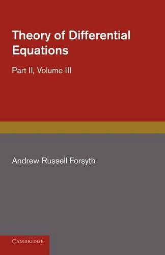 Theory of Differential Equations: Ordinary Equations, Not Linear - Theory of Differential Equations 6 Volume Set (Paperback)