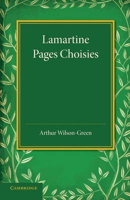 Lamartine: Pages Choisies (Paperback)