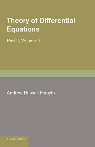 Theory of Differential Equations 6 Volume Set Theory of Differential Equations: Volume 2 (Paperback)