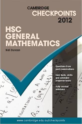 Cambridge Checkpoints HSC General Mathematics 2012 - Cambridge Checkpoints (Paperback)