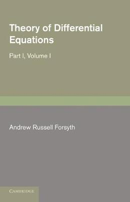 Theory of Differential Equations: Theory of Differential Equations Volume I - Theory of Differential Equations 6 Volume Set (Paperback)