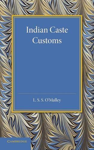 Indian Caste Customs (Paperback)