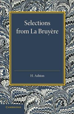 Selections from La Bruyere (Paperback)