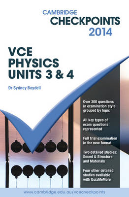 Cambridge Checkpoints VCE Physics Units 3 and 4 2014 and Quiz Me More p - Cambridge Checkpoints