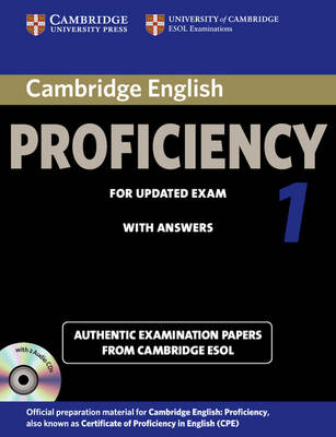 Cambridge English Proficiency 1 for Updated Exam Self-study Pack (Student's Book with Answers and Audio CDs (2)): Authentic Examination Papers from Cambridge ESOL - CPE Practice Tests