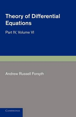 Theory of Differential Equations: Partial Differential Equations - Theory of Differential Equations 6 Volume Set (Paperback)