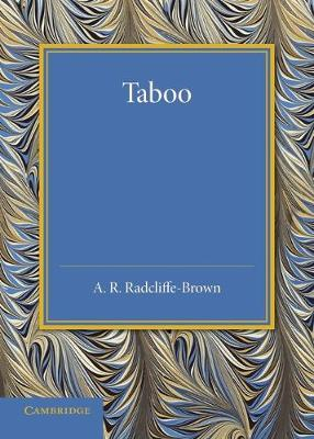 Taboo: The Frazer Lecture 1939 (Paperback)
