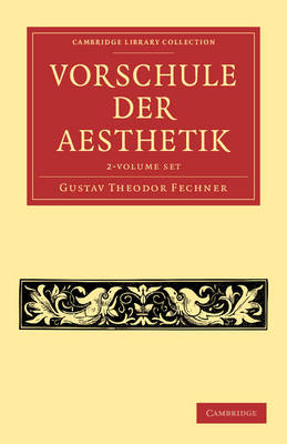 Vorschule der Aesthetik 2 Volume Set - Cambridge Library Collection - Art and Architecture