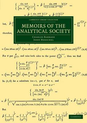 Cambridge Library Collection - Mathematics: Memoirs of the Analytical Society (Paperback)