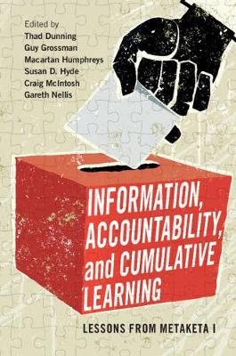 Cambridge Studies in Comparative Politics: Information, Accountability, and Cumulative Learning: Lessons from Metaketa I (Paperback)