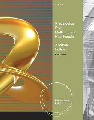 Precalculus: Real Mathematics, Real People, Alternate International Edition (Paperback)