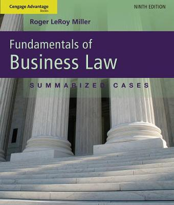 Cengage Advantage Books: Fundamentals of Business Law: Summarized Cases (Paperback)