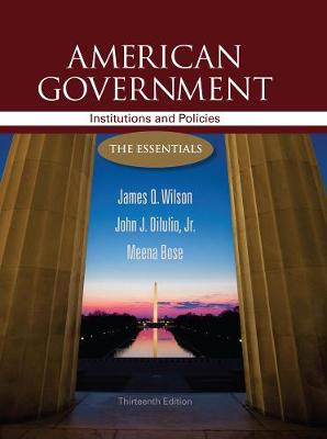 American Government: Institutions and Policies: The Essentials (Paperback)