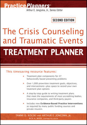 The Crisis Counseling and Traumatic Events Treatment Planner - PracticePlanners (Paperback)