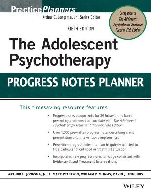 The Adolescent Psychotherapy Progress Notes Planner - PracticePlanners (Paperback)