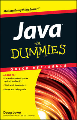 Java For Dummies Quick Reference (Paperback)
