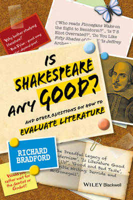 Is Shakespeare any Good?: And Other Questions on How to Evaluate Literature (Hardback)