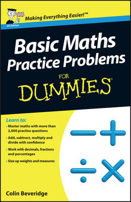 Basic Maths Practice Problems For Dummies (Paperback)