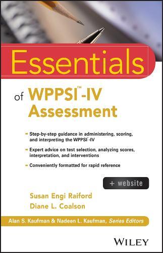 Essentials of WPPSI-IV Assessment - Essentials of Psychological Assessment (Paperback)