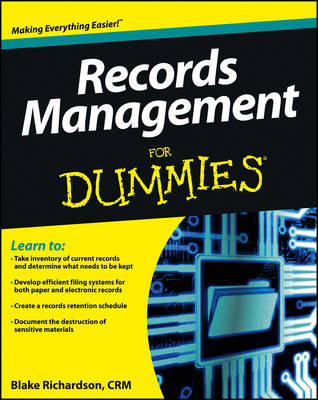 Records Management For Dummies (Paperback)
