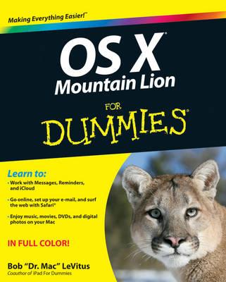 OS X Mountain Lion For Dummies (Paperback)