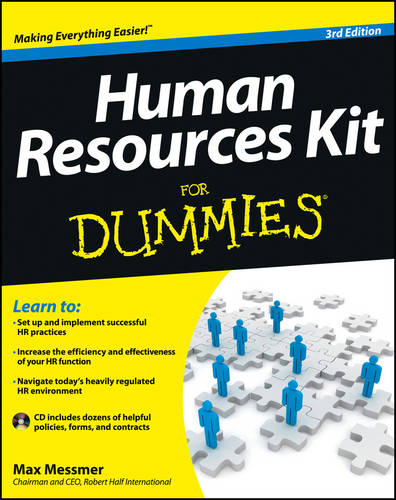 Human Resources Kit for Dummies, 3rd Edition (Paperback)