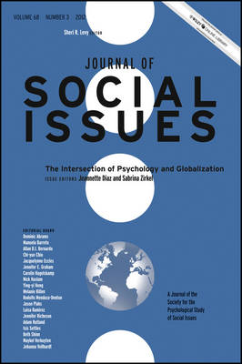 The Intersection of Psychology and Globalization - Journal of Social Issues (JOSI) (Paperback)