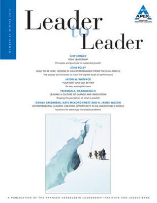 Leader to Leader, Volume 67, Winter 2013 - J-B Single Issue Leader to Leader (Paperback)