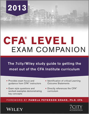 Cover CFA Level I Exam Companion: The 7city/Wiley Study Guide to Getting the Most Out of the CFA Institute Curriculum