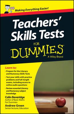 Teacher's Skills Tests For Dummies (Paperback)