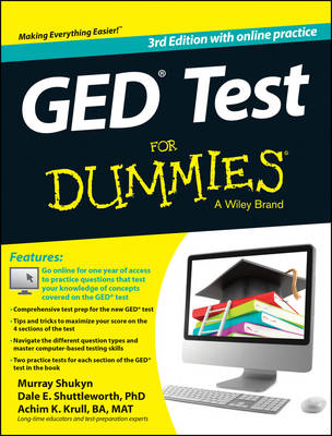 GED Test For Dummies: with Online Practice (Paperback)