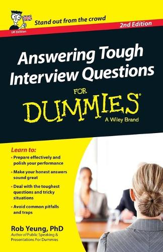 Answering Tough Interview Questions For Dummies - UK (Paperback)