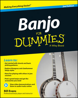 Banjo For Dummies: Book + Online Video and Audio Instruction (Paperback)