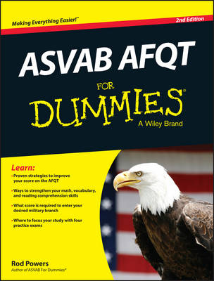 Asvab Afqt for Dummies, 2nd Edition (Paperback)
