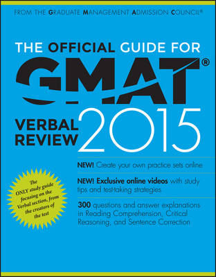 The Official Guide for GMAT Verbal Review 2015 (Paperback)