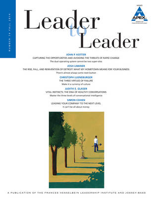 Cover Leader to Leader : Volume 74: Fall 2014 - J-B Single Issue Leader to Leader (Paperback)
